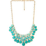 FOREVER21 Vibrant Faux Gemstone Bib Necklace