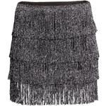 H&M Fringed jersey skirt