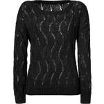 Rag & Bone Reese Pattern Knit Pullover in Black
