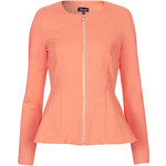 Topshop Slim Peplum Zip Jacket