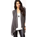 FOREVER21 Classic Draped Front Cardigan