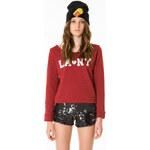 "Tally Weijl Red ""LA / NY"" Print Sweater"