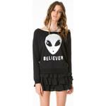 """Tally Weijl Black """"Alien Believer"""" Print Sweater"""