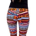 LH Fashion Jeans Barevné kalhoty s aztéckým vzorem