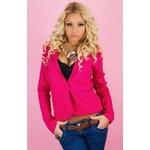 Beauty Angel Fuchsiové bavlněné sako