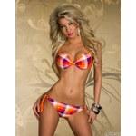 Katia, Itálie Oranžové kostkované plavky