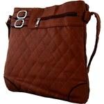 Sun-bags Crossbody kabelka s prošíváním H0341 tmavě hnědá - dle obrázku
