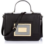 Guess Marciano Golden Plate Leather Satchel Bag