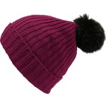 s.Oliver Knitted hat with an imitation fur pompom