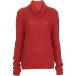 Topshop Premium Cotton Roll Neck Jumper by Boutique