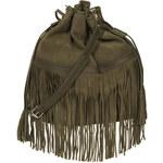 Topshop Suede Tassel Duffle Bag