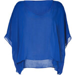 Helmut Lang Deep Blue Tunic Top