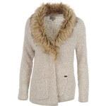 Firetrap Fur Collar Knitted Cardigan dámský
