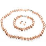 Sladkovodní perla Perlový komplet SET PINK