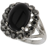 Topshop Opaque Black Stone Ring