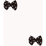 FOREVER21 Twee Polka Dot Bow Studs