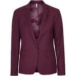 Topshop Premium Oxblood Suit Blazer