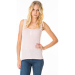 Tally Weijl Pink Basic Lace Button Vest Top
