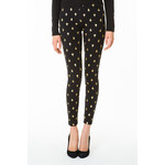Tally Weijl Black Leggings with Golden Cross Print