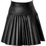 David Koma Pleated Leather Mini-Skirt