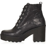 Topshop APPLES Chunky Lace Up Boots
