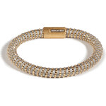 Carolina Bucci Gold-Plated Twister Bracelet in Grey