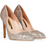 Rupert Sanderson Glitter Elba Pointed Toe Pumps