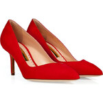 Rupert Sanderson Suede Flute Pointed Toe Pumps