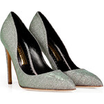 Rupert Sanderson Metallic Elba Pointed Toe Pumps