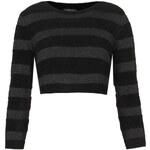 Topshop Knitted Velor Stripe Crop