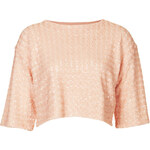 Topshop Knitted Sequin Front Jumper
