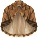 Topshop Pelted Faux Fur Capelette
