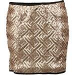 Zlatá flitrovaná sukně Vero Moda Maise