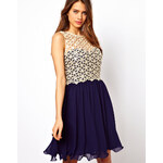 Little Mistress Lace Broderie Prom Dress
