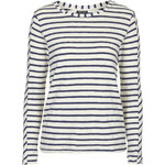 Topshop Long Sleeve Stripe Top