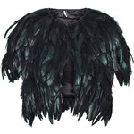 Topshop Shiny Feather Cape