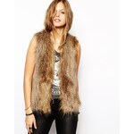 Unreal Fur Ice Breaker Gilet in Natural Racoon - Brown