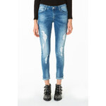 Tally Weijl Blue Extreme Distressed Skinny Jeans