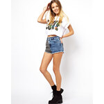 ASOS High Waisted Hotpant with Jersey Panel Detail