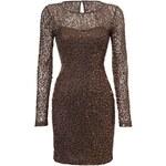 Úpletové šaty s flitry bonprix