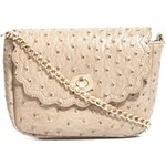 ASOS Ostrich Cross Body Bag With Scallop Flap