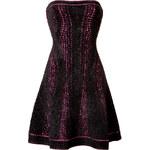 Hervé Léger Printed Velvet Strapless Dress