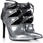 Sergio Rossi High Heel Ankle Boots with Cutouts