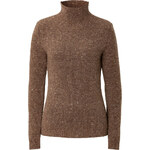 Damir Doma Wool-Cashmere Flecked High Neck Pullover