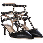 Valentino Leather Rockstud Kitten Heels