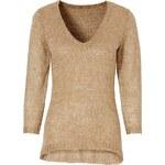 Třpytivý pulovr s 3/4 rukávy bonprix