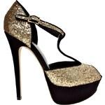 ALDO Loveless Glitter T-Bar Platform Heeled Shoes