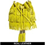 ASOS Leather Duffle Bag With Fringing
