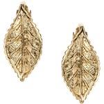 ASOS Leaf Mini Hoop Earrings
