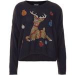 Topshop Knitted Crystal Reindeer Jumper